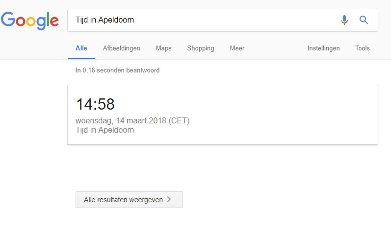 Blog  Google geeft antwoord zonder zoekresultaten  Tijd in Apeldoorn