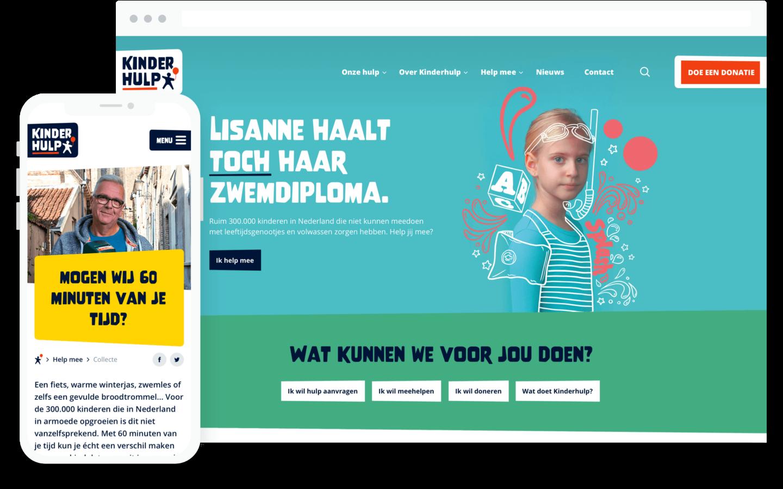 kinderhulp website design