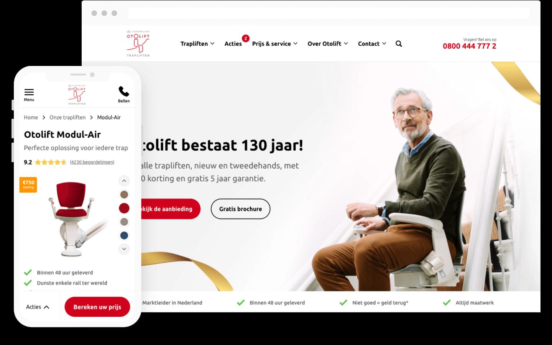 otolift website design